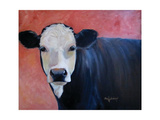 Louise Cow Painting Art by Cheri Wollenberg