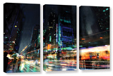 Night City 3, 3 Piece Gallery-Wrapped Canvas Set Prints by Philip Straub