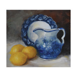 Blue Willow and Yellow Lemons Prints by Cheri Wollenberg