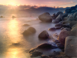 Rocks and Water Prints by Dennis Frates