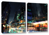 Night City 3, 2 Piece Gallery-Wrapped Canvas Set Gallery Wrapped Canvas Set by Philip Straub