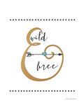 Wild and Free Gold Prints by Jo Moulton