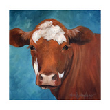 Chocolate Cow Premium Giclee Print by Cheri Wollenberg