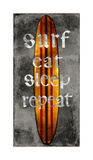 Surf Repeat Giclee Print by Charlie Carter