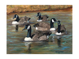 Geese Premium Giclee Print by Cheri Wollenberg