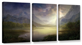 Silent Morning, 3 Piece Gallery-Wrapped Canvas Set Posters by Philip Straub