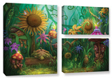 Meet The Imaginaries, 3 Piece Gallery-Wrapped Canvas Flag Set Art by Philip Straub