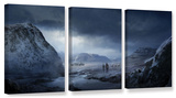 Winter, 3 Piece Gallery-Wrapped Canvas Set Prints by Philip Straub