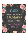 God Made - Floral Posters by Jo Moulton