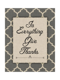 Give Thanks Poster by Jo Moulton