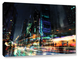 Night City 3, Gallery-Wrapped Canvas Stretched Canvas Print by Philip Straub