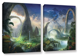 Great North Road, 2 Piece Gallery-Wrapped Canvas Set Posters by Philip Straub