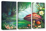 Enchanted Forest, 3 Piece Gallery-Wrapped Canvas Set Poster by Philip Straub