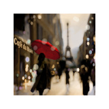 A Paris Stroll Wydruk giclee autor Kate Carrigan