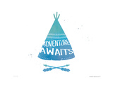 Adventure Teepee Prints by Jo Moulton