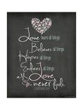 Love Never Fails Premium Giclée-tryk af Jo Moulton