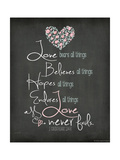 Love Never Fails Prints by Jo Moulton