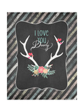 Love You Deerly Prints by Jo Moulton