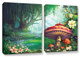 Enchanted Forest, 2 Piece Gallery-Wrapped Canvas Set Gallery Wrapped Canvas Set by Philip Straub