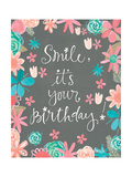 Flowery Birthday Poster by Katie Doucette