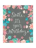 Flowery Birthday Póster por Katie Doucette