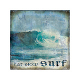 Eat Sleep Surf Giclee Print by Charlie Carter