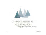 He- Mountains Print by Jo Moulton