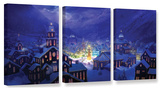 Christmas Town, 3 Piece Gallery-Wrapped Canvas Set Prints by Philip Straub