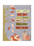 Autumn Words Prints by Katie Doucette