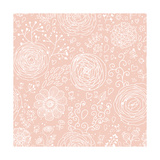 Stylish Floral Seamless Pattern in Pink. Lovely Ranunculus Flowers. Seamless Pattern Can Be Used Fo Prints by  smilewithjul