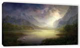 Silent Morning, Gallery-Wrapped Canvas Stretched Canvas Print by Philip Straub