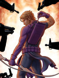 Avengers: Solo No.5 Cover: Hawkeye Trapped, Drawing and Arrow Plastic Sign by John Tyler Christopher