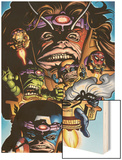 Marvel Adventures Avengers No.9 Cover: M.O.D.OK. Wood Print by Stewart Cameron