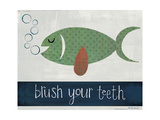 Brush Your Teeth Premium Giclee Print by Katie Doucette