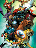 Avengers vs. Pet Avengers No.4 Cover: Captain America, Thor, Iron Man, Lockjaw, Zabu and Others Plastic Sign by Ig Guara