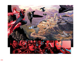 Avengers: The Childrens Crusade No.4: Panels with Wonder Man Flying Wall Decal by Jim Cheung