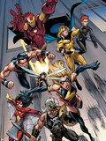 The Mighty Avengers No.7 Group: Ms. Marvel Wall Decal by Mark Bagley