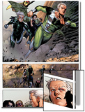 Avengers: The Childrens Crusade No.4: Panels with Quicksilver and Speed Prints by Jim Cheung