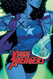 Young Avengers 3 Cover: Ms. America Plastic Sign by Jamie McKelvie
