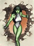 She-Hulk No.1 Cover: She-Hulk Wall Decal by Adi Granov