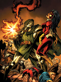The Mighty Avengers 9 Cover: Dr. Doom and Spider Woman Poster by Mark Bagley