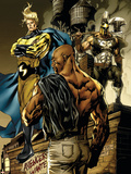 New Avengers No.49 Cover: Sentry, Cage, Luke and Ares Plastic Sign by Billy Tan