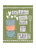 Dishes Poster by Katie Doucette