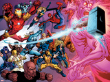 Avengers Academy No.11: Iron Man, Thor, Iron Fist, Luke Cage, Wolverine, Spider-Man and Others Plastic Sign by Tom Raney