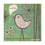 Hello Bird Premium Giclee Print by Katie Doucette