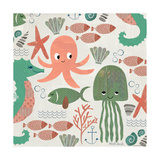 Under the Sea Pattern Posters by Katie Doucette