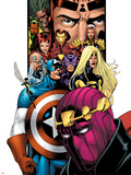 Avengers/Thunderbolts No.1 Cover: Baron Zemo, Captain America, Moonstone, Hawkeye, Wasp & Avengers Plastic Sign by Barry Kitson