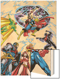 Avengers No.17 Group: Captain America Wood Print by Jerry Ordway