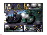 Avengers: Solo No.4: Hawkeye Riding a Motorcycle Wall Decal by Roger Robinson
