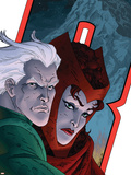 Avengers: Earths Mightiest Heroes No.7 Cover: Quicksilver and Scarlet Witch Plastic Sign